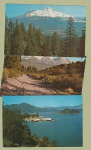 Mt. Shasta Photo Postcards Scenic Shasta California Lake Lot of 3