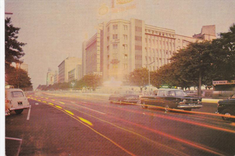 Street View, Classic Cars, Coca-Cola Sign, LOURENCO MARQUES, Mozambique, 50-70's