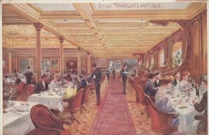 Ocean Liner SAVOIE , Salle a Manger , 1912