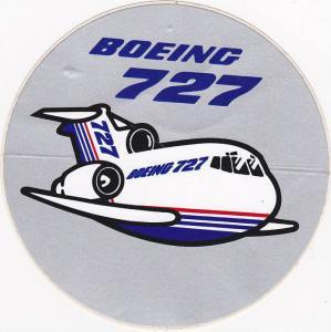 Boening 727 luggage sticker , 60-70s