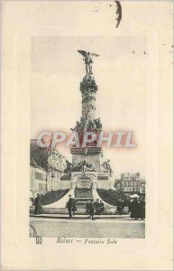 Old Postcard Reims Fontaine Sube