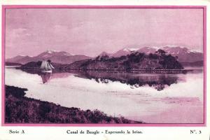 argentina, TIERRA DEL FUEGO, Canal de Beagle, Esperando la Brisa 1920s Postcard