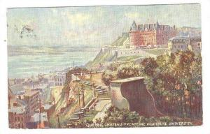Chateau Frontenac from Laval University, Quebec , Canada ; TUCK Oilette # 255...