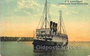 S.S. Prince Rupert Steamer Ship Ships Postcard Postcards  S.S. Prince Rupert
