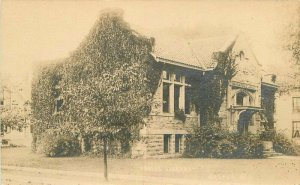 C-1910 Public Library Waupun Wisconsin RPPC Photo Postcard 20-6404