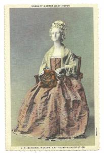 Dress of Martha Wasington At the Smithsonian museum