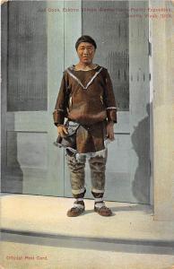 Joe Cook Eskimo Village Alaska Yuko Pacific Exposition Seattle 1914 postcard
