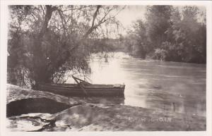 Jordan Row Boat On The River Jordan Real Photo