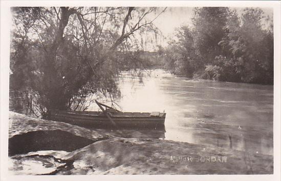 Jordan Row Boat On The River Jordan Real Photo