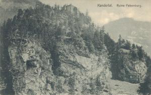 Switzerland Kandertal Ruine Felsenburg 02.45