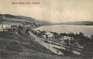 North Hatley Quebec Canada Aerial View 1909 Postcard