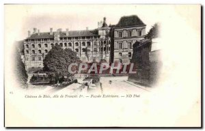 Old Postcard Chateau de Blois Francis I Facade Exterieure