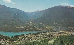 Eagle Pass, Columbia River and  Revelstoke in the forground,  Revelstoke,  B....