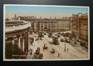 Mint Vintage Trinity College Dublin Co Dublin Ireland Real Picture Postcard