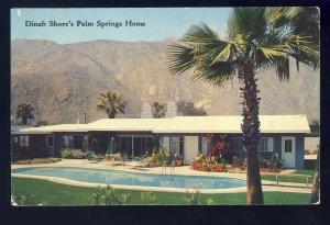 Palm Springs, California/CA Postcard, Dinah Shore & George Montgomery's ...
