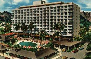 Hawaii, HI, Princess Kaiulani Hotel, 1955 Chrome Vintage Postcard g8361