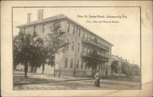 Jacksonville FL New St. James Hotel c1910 Postcard