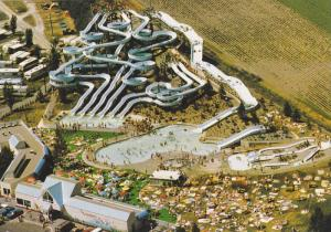 Aerial View of Splashdown Water Park, Swimming Pool, Water Slides, Downtown V...