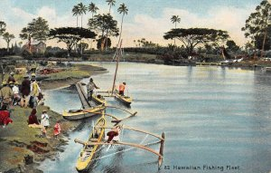 LP22  Hawaii Postcard Fishing Fleet Private Mailing Card PMC Island Curio