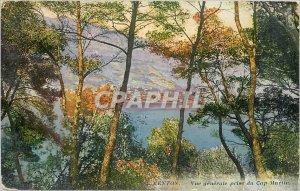 Old Postcard Menton General view taken of Cap Martin