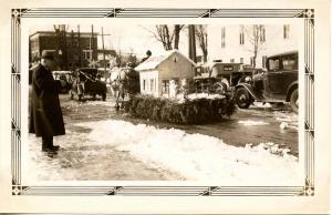 NH - Whitefield. Winter Carnival. Parade, School Float, Winter 1933    *RPPC