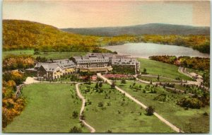 Skytop, Pennsylvania Postcard Autumn Time at SKYTOP LODGE Poconos Hand-Colored