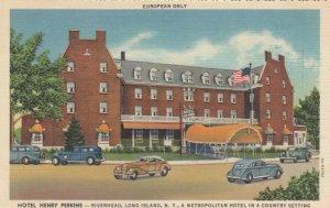 RIVERHEAD , L.I. , NY , 1930-40s ; Hotel Henry Perkins