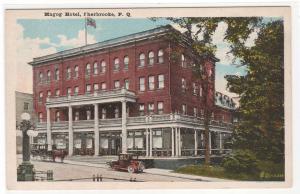 Magog Hotel Sherbrooke Quebec Canada 1920c postcard