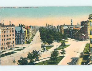Divided-Back BUILDINGS ON COMMONWEALTH AVENUE Boston Massachusetts MA hp3109