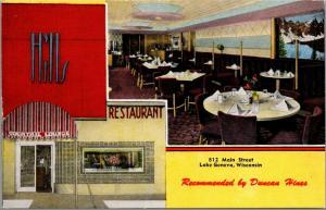 Lake Geneva WI~Art Deco Hills Restaurant Sign & Cocktail Lounge~Coffee Pot~1940s