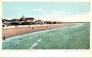 Maine Old Orchard Beach Looking North From Ocean Pier Detroit Publishing