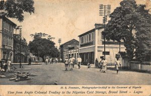 Nigeria Lagos Broad Street View from Anglo Colonial Trading 1927 Postcard