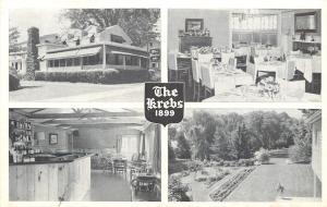 Skaneateles NY Garden w/Willow Trees, Dining @ The Krebs, Genesee St 1950s