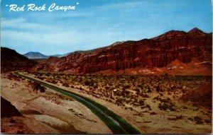 VTG Highway 6 Red Rock Canyon Mojave Desert California CA Postcard August 7 1964