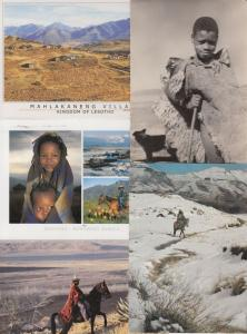 LESOTHO 11  AFRIQUE Cartes Postales 1960-1990.