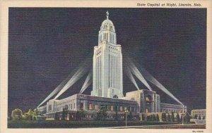 Nebraska Lincoln Nebraska State Capitol At Night