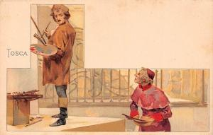 Opera 'Tosca' Illustration (by Giacomo Puccini, Composer) Postcard chromo