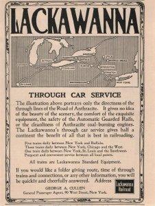 1907 Original Print Ad Lackawanna Railroad 2P1-6 e et