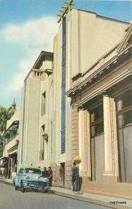 1940s El Salvador Club International auto Street Scene postcard 5798