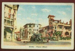 123010 Vintage Roma Rome Italy Piazza Mincio Antique Postcard