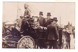 Real Photo, President Taft at Marietta, Georgia Being Driven un Horse Buggy b...
