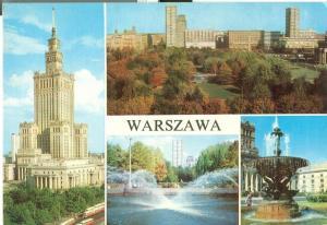 Poland, Warsaw, Warszawa, 1976 used Postcard