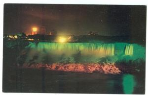The American Falls, illuminated Niagara Falls Ontario Canada