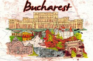 Fine Art Quality Postcard, Bucharest, Romania, Landmarks, City, View, Travel 85H