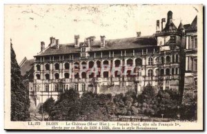 Blois Old Postcard The North Facade called castle wing Francois 1er