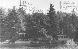 Wolfeboro New Hampshire Scenic Waterfront Real Photo Antique Postcard K100284