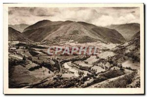Postcard Old Env Bagneres de Bigorre Arreau View Montee Taking the Col d'Aspin