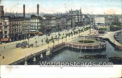 Jungfernstieg Hamburg Germany 1906