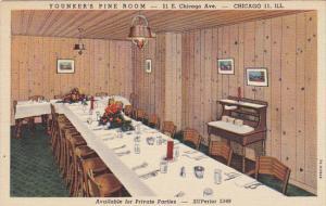 Illinois Chicago Pine Room Younker's Chicken In The Rough Restaurant Curteich