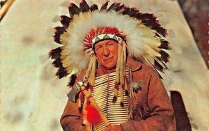ARDEN ONTARIO CANADA~NATIVE CANADIAN INDIAN CHIEF-1969 POSTMARK POSTCARD
